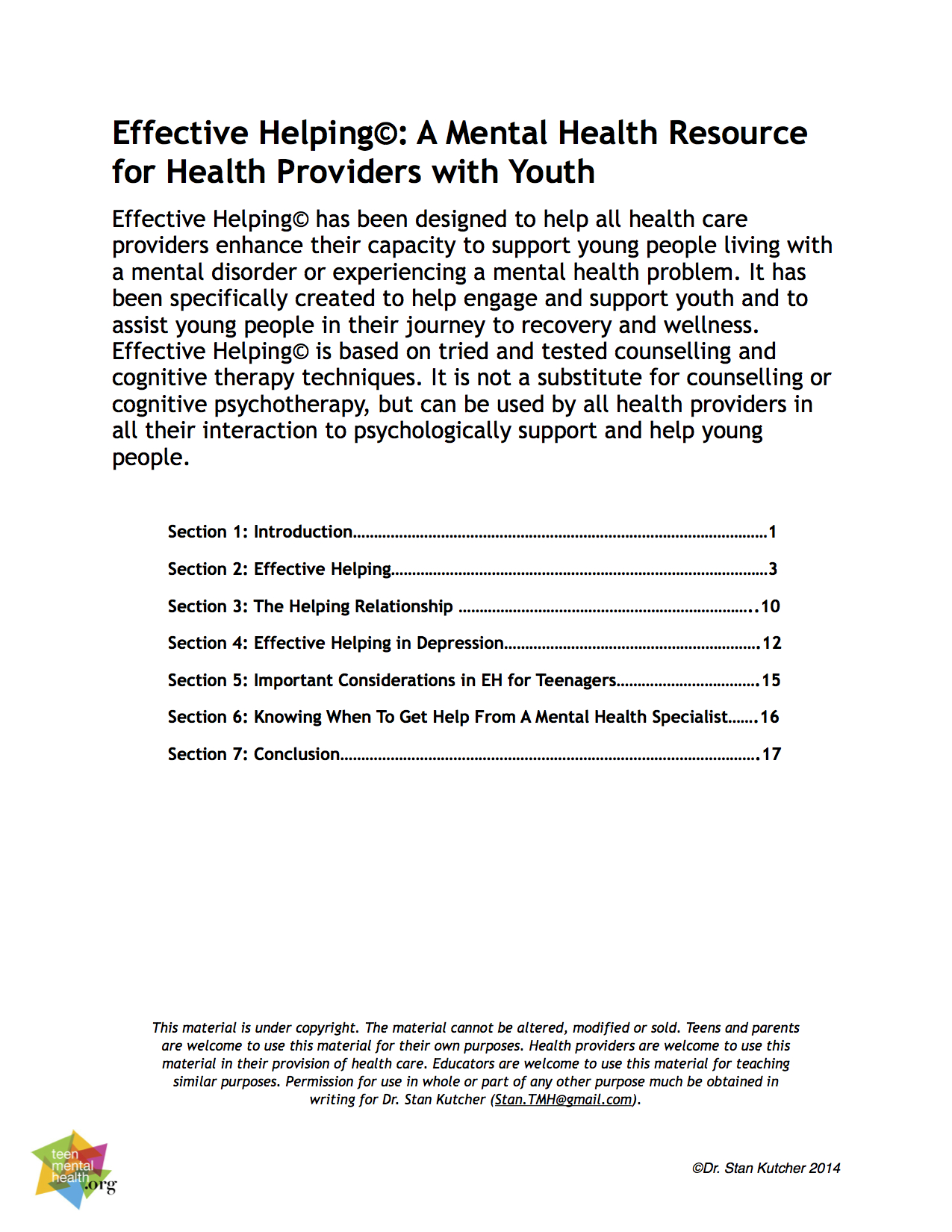 Mental Health Effective Helping For Health Care Providers Teen